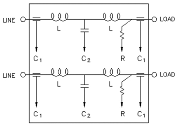 facility power filters symmetric vs asymmetric performance in figure 5 schematic of a aymmetric filter each line independent of each other