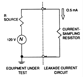 Resistance Measurement Circuit Diagram | Resistor Value For Measuring Leakage Current In Compliance Magazine