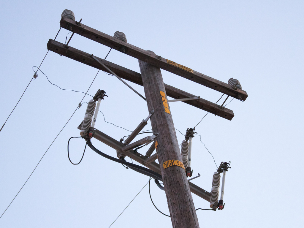 pole with fuses