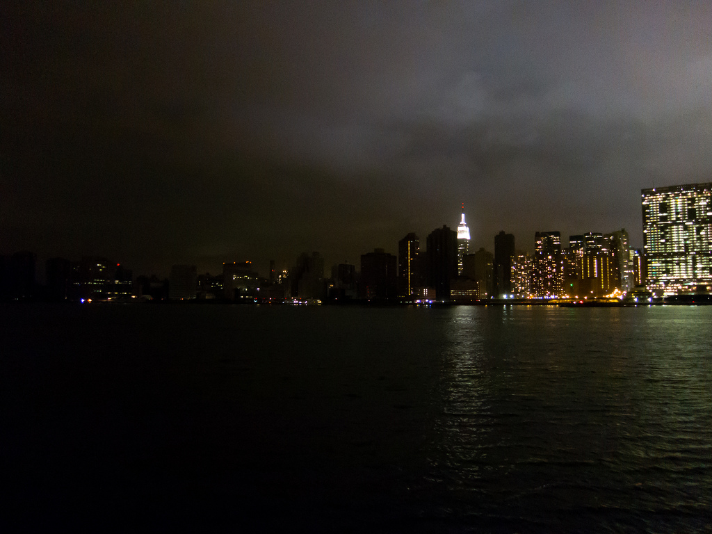 New York City (Manhattan) from Ganrty Park after Hurricane Sandy
