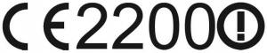 Figure 1: CE Mark for Non-Harmonized Class 2 Equipment with Alert Symbol