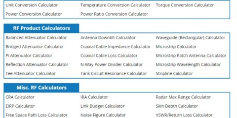 Pasternack Publishes New RF Calculators and Conversion Tools