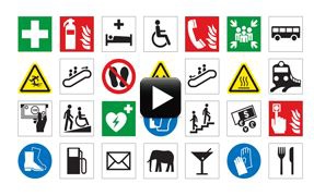 For more information on best practices related to ISO symbols, watch a short, educational video produced by Clarion Safety Systems.