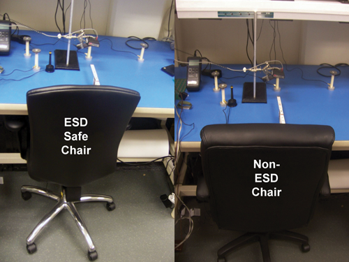 chair measurements of electrostatic fields and esd events in
