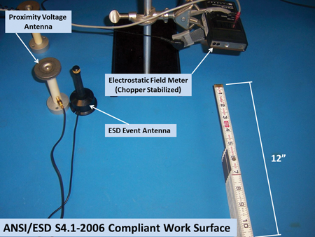 Photo 3: ANSI/ESD S4.1-2006 compliant work surface