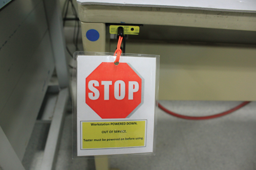 Figure3: Stop signs deployed throughout the facility
