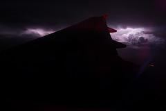Lightning storm plane photo