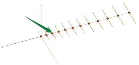 Figure 1b:  An LPDA at 60 MHz