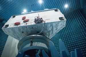 Radio testing of BepiColombo orbiter