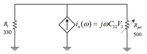 Figure 13: Circuit schematic during electric field dominant coupling