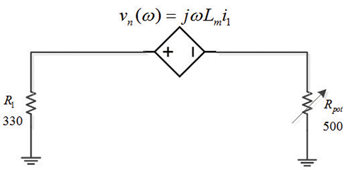 Figure 14: Circuit schematic during magnetic field dominant coupling