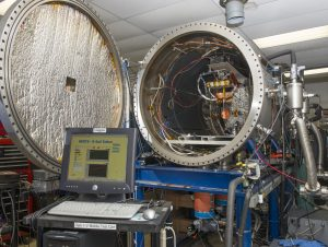 Tests within a controlled plasma chamber will examine the rate of proton and electron collisions with a positively charged wire. Results will help improve modeling data that will be applied to future development of E-Sail technology.