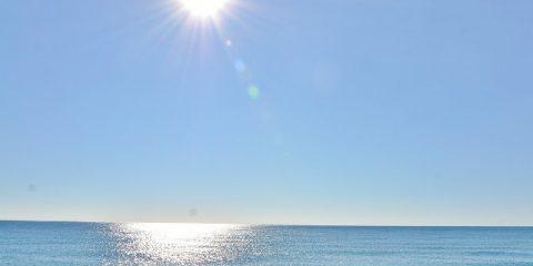 sun and seawater