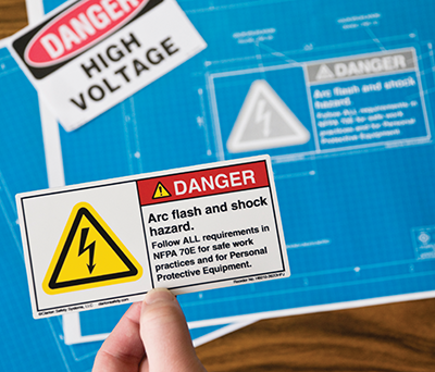 Figure 1: Best practice product safety labels and signs require complete content