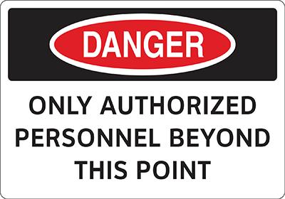 Figure 2: Outdated, 1941-era OSHA-style safety sign