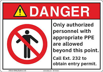 Figure 3: New, best practice safety sign  (©Clarion Safety Systems. All rights reserved.)