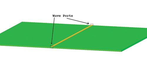 Figure 5a: Small wave port