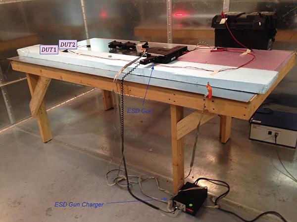 Figure7: ESD table-top test setup