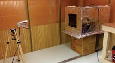 Figure3: Test configuration in NASA KSC reverberation chamber